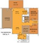 2 bedroom / 1 bath 1st floor